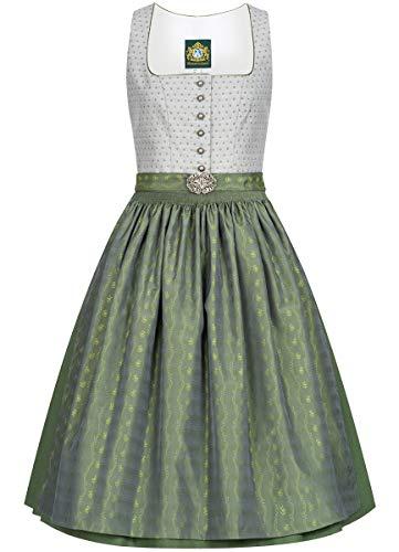 Hammerschmid Damen Trachten-Mode Midi Dirndl Chiemsee in Grau traditionell, Größe:44, Farbe:Grau
