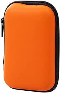 CARRY TRIP Portable Zipper Bag Earphone Cable Mini Box SD Card Coin Cuboid Purse Headphone Earphone Bag Storage Carrying Pouch Bag Case Colorful (Orange)