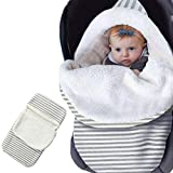 Baby Schlafsack Mit Kapuze Babydecke Vlies Wickeldecke Pucksack für Neugeborene Wickeln 0-3 Monate