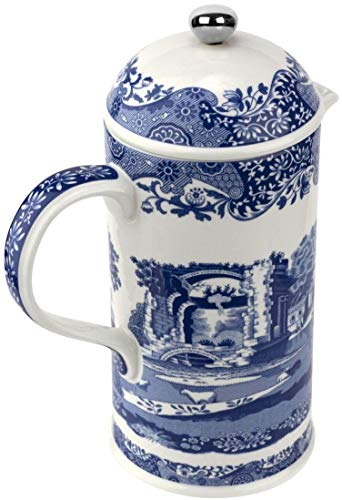 Spode BLI00870-XF Blue Italian Cafetiere 28 Oz, Ceramic