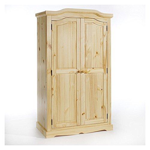 IDIMEX Garderobenschrank Dielenschrank Kleiderschrank Tulum, Kiefer, 2-türig 2-Türen, Natur