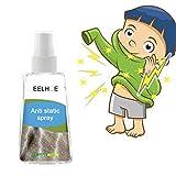 Spray antiestático, spray antiarrugas, removedor de adherencia estática, reduce la adherencia estática para ropa, muebles y automóvil (60ml)