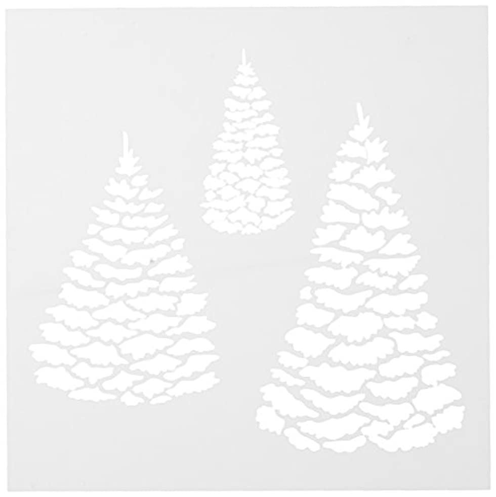 CRAFTERS WORKSHOP Evergreens Template, 6 by 6