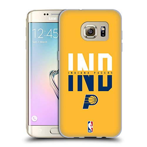 Head Case Designs Ufficiale NBA Tipografia 2019/20 Indiana Pacers Cover in Morbido Gel Compatibile con Samsung Galaxy S7 Edge