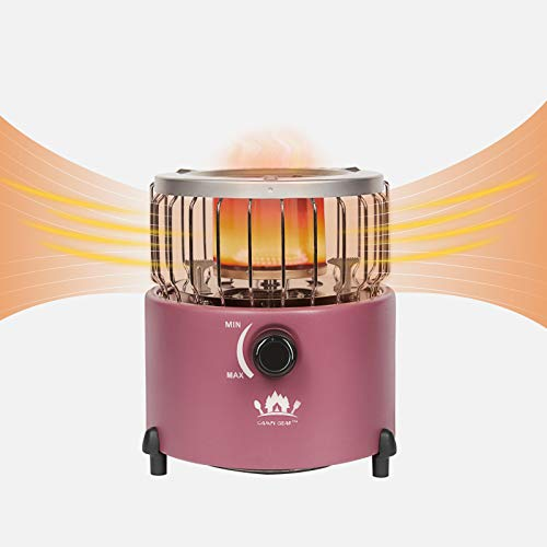 Campy Gear 2 in 1 Portable Propane Heater & Stove, Outdoor Camping Gas Stove Camp Tent Heater for Ice Fishing Backpacking Hiking Hunting Survival Emergency (Purple, CG-2000G)