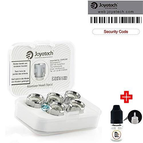[✅100% ORIGINALPRODUKT✅] 5er Pack Verdampferköpfe JOYETECH ProC1-S Kanthal 0.25 ohm (25-55W) coils + 1 FREI eliquid Leere Flasche 5ml DansLesVapes [OHNE NIKOTIN, OHNE Tabak] (joyPROC1S-025)