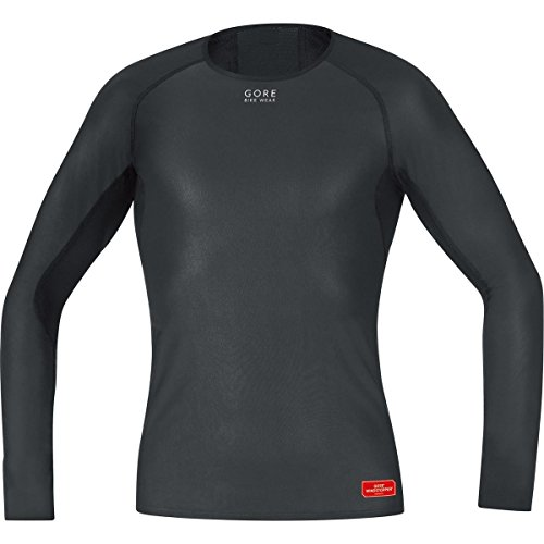 GORE BIKE WEAR Base Layer Windstopper Manga Larga - Camiseta de ciclismo para hombre, color negro, talla XL