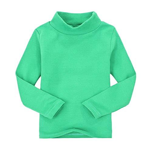CuteOn Niños para niños | Cuello Alto | De Manga Larga | algodón | De Camisetas, Tops, tee Shirt Verde 3 Años