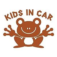 imoninn KIDS in car ステッカー 【シンプル版】 No.22 カエルさん (茶色)