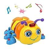 TINOTEEN Jouets Bébé Musicale de Bambin Garçon Fille Rampant et Chantant Abeille Jouet
