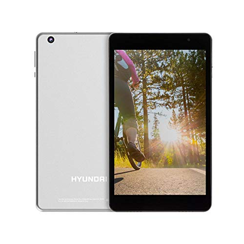 Hyundai Koral 8W2 Android Tablet 8 Inch HD IPS Display, WiFi, 2GB RAM, 16 GB Storage, Google Certified, Android 9.0 Pie, Dual Camera, Bluetooth, [Silver]