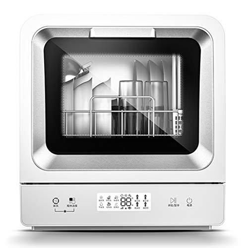 Garny Lavavajillas Inteligente de Escritorio, Mini lavaplatos doméstico automático, diseño de Brazo rociador de 360 °, 6 programas Ajustables, bajo Nivel de Ruido