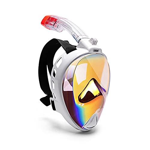 UOOD Mascarilla Facial de Snorkel, 180 ° Seaview Buceo máscara de Buceo para niños Adultos, Snorkel máscara para Toda la Cara contra la Niebla con el Montaje de cámara Anti Niebla (Color : L/XL)