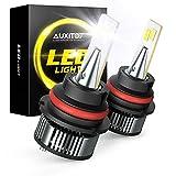 AUXITO 9007 LED Bulbs, 16000LM 80W Per Pair, 400% Brighter, 6500K White, Mini Size Dual Bulbs HB5...