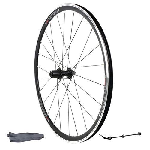 700C Bicicleta de Carretera Ruedas,Aleación de Aluminio 32 Hoyos Freno V Rueda Simple Delantera/Trasera Rueda de Carreras (Color : Rear Wheel)
