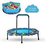 smarTrike 3-in-1 Kinder Trampolin für Zwei Kinder Indoor/Outdoor, Blau