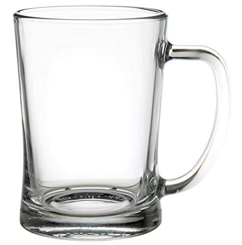 Bierkrug, 60 cl, transparent, spülmaschinenfest, 2 Stück