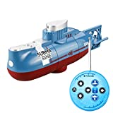 NEWMERE RC Mini Submarine, 6 Channels Remote Control Under Water Ship RC Submarine Model Kids Educational Toy Gift for Children for Kids and Adult for Lake/Pool/Pond
