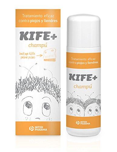 Kife+ 154733.0 Champú tratamiento antipiojos con aceite citronella, Naranja, 100 ml