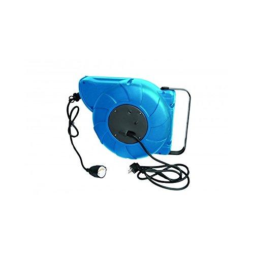 Automatische Kabeltrommel 230V 16m HO5VV-F3G x 15 mm² Kabelaufroller Automatikaufroller Aufroller 1 Steckdose