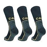 Caterpillar 3 Paires de chaussettes de travail CAT, résistantes aux chocs, Coolmax, adaptées aux 4 saisons, fils d'excellente qualité en polyester