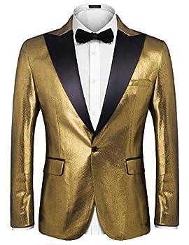 Best gold blazer men Reviews