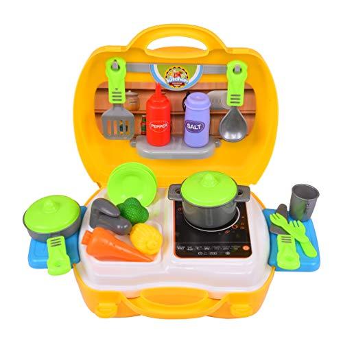 Smartcraft Ultimate Kid Chef Bring Along Kitchen Cooking Suitcase Set (26 Pieces) - Multicolor
