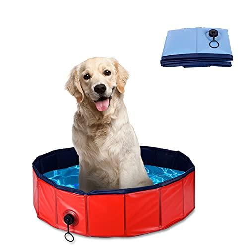 LIXILI Piscina Portátil del Perro De Mascotas, Bañera Plegable, Interior Y Al Aire Libre Plegable A Prueba De Fugas para Perros De Perro para Perros para Perro Gato Y Niño,Rojo,L
