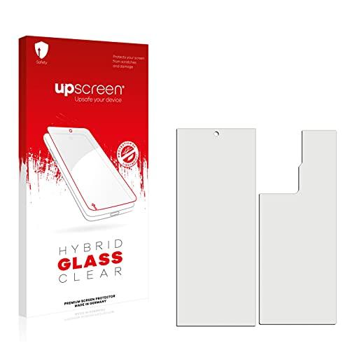 upscreen Hybrid Glass Panzerglas Schutzfolie kompatibel mit ZTE Axon 30 Ultra 5G (Vorder + Rückseite) 9H Panzerglas-Folie