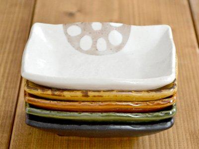 テーブルウェアイースト『蓮根小皿5色セット長角型(SET-168)』
