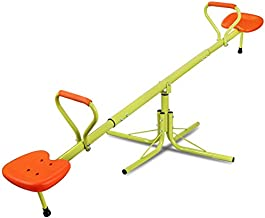 Nova Microdermabrasion Kids Seesaw Swivel Teeter-Totter Home Playground Equipment, 360 Degrees Rotating Safe, Outdoor Fun for Kids, Toddlers, Boys, Children (2 Seats)
