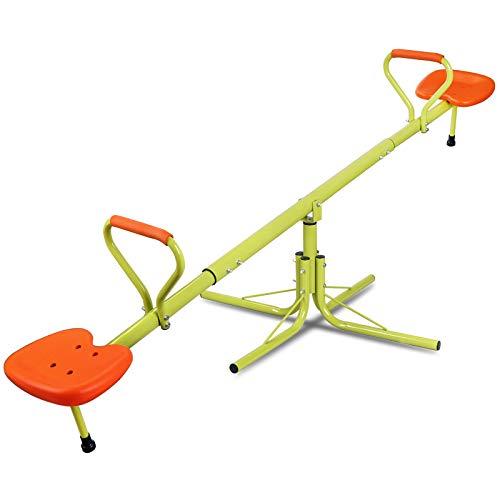Nova Microdermabrasion Kids Seesaw Swivel Teeter-Totter Home Playground Equipment, 360 Degrees...