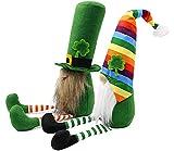 St. Patrick's Day Slouchy Hat Gnome, Shamrock Gnome, St Patricks Day Tier Tray Decor, Leprechaun Stuffed Gnomes Plush, Good Luck Symbol at 2021 Mascot