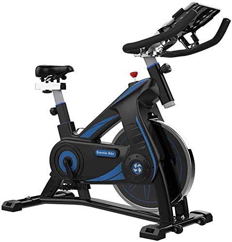 SXTYRL Bicicleta de ejercicio para interiores con monitor multifuncional, sensores de frecuencia cardíaca, ajuste de resistencia cardiovascular, máquina de entrenamiento de adelgazamiento