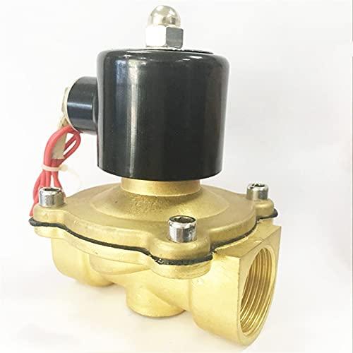 Válvula de solenoide de cobre de agua de aire de la bobina de la bobina de la serie 2W 2W 3/4 1 pulgada Normalmente cierre de la válvula de bobina ( Specification : 3/4Inch , Voltage : 220V )