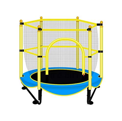 XUDREZ Mini trampolín redondo Indor al aire libre con red de seguridad muelles, equipo de gimnasia para el ejercicio en el hogar, fitness, entrenamiento, patio trasero, trampolín con aro de baloncesto