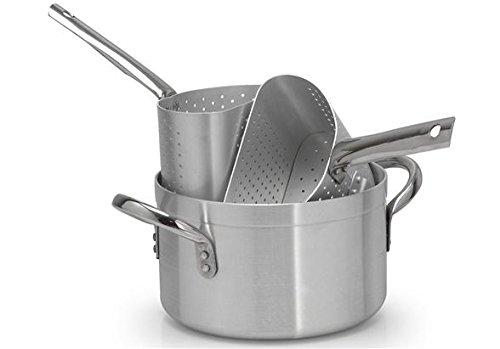 PARDINI Casseruola Alluminio Alta Due Spicchi Pentole e Preparazione Cucina, Grigio, 28 cm