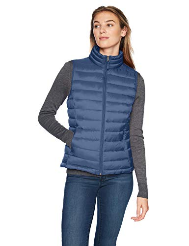 Amazon Essentials Women's Lightweight Water-Resistant Packable Puffer Vest, Navy, Medium