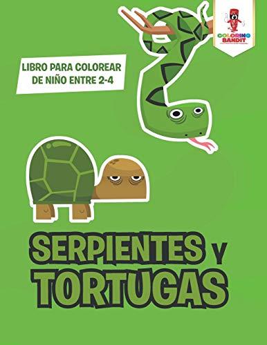 Serpientes Y Tortugas: Libro Para Colorear De Niño Entre 2-4