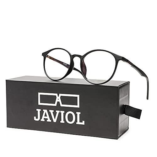 occhiali antiaffaticamento uomo JAVIOL Occhiali Anti Luce Blu per Computer TR90 occhiali da gioco nero per PC/Telefono/Pad/TV