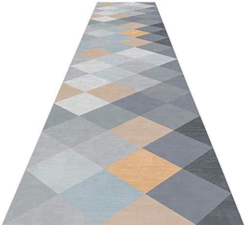 NNPE Pasillo de alfombras Corredor Entramado Suave Fácil de Limpiar En geométrica Antideslizante Alfombra de ratón Durante Largos pasillos Salón Comedor 0223 (Size : 0.6×11M)