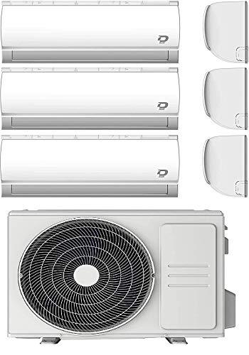 Diloc Condizionatore Trial MultiSplit Wi-fi, Climatizzatore Inverter 6,1 Kw, Gas R32, D.MULTI360 (9000 + 9000 + 12000 BTU)