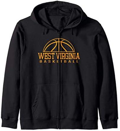 West Virginia Basketball Player W Va Team Mountaineer State Zip Hoodie product image