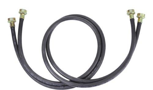 Whirlpool 8212656RP - Manguera de Entrada para arandela de Goma Negra de 3 m, 2 Unidades