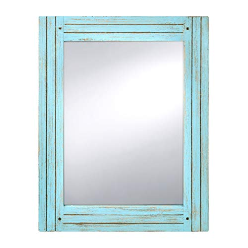 PRINZ Water's Edge Homestead 18.5-Inch by 23.5-Inch Distressed Wood Mirror, -