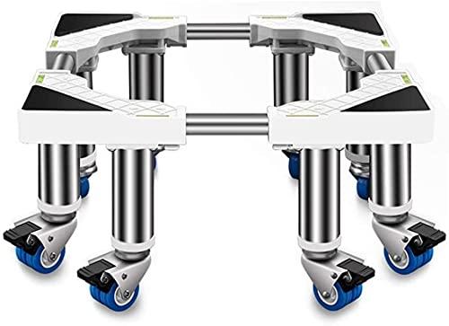 Máquina de lavadora universal Soporte ajustable Soporte ajustable Soporte fácil de movimiento con ruedas Refrigerador Trolley...