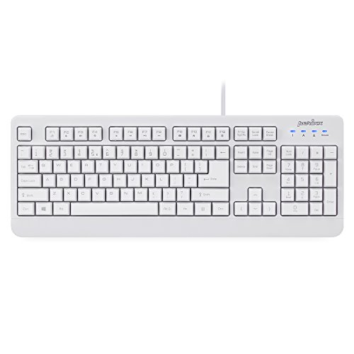 Perixx Periboard Wired Waterproof USB Keyboard Certified with IP 65