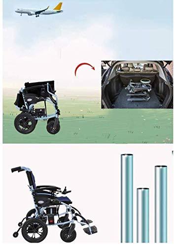 Kompakter Elektrorollstuhl mit Mittelantrieb, Lite Cruiser Deluxe - persönliches Mobilitätsgerät Intelligente elektronische Bremse kann im Flugzeug sein, in die U-Bahn, manueller Rollstuhl, High Mat