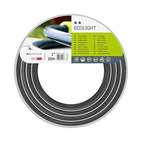 Cellfast Gartenschlauch Ecolight series Elastisch und flexibel 3-lagiger Wasserschlauch aus Polyesterkreuzgewebe, druck- und UV-beständig 20 bar Berstdruck, 20m,1 zoll,10-180