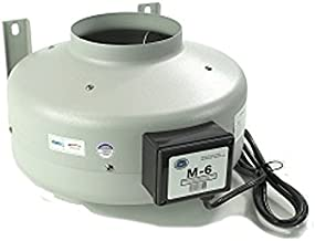Tjernlund M-6 Inline Duct Booster Fan, Hydroponic Blower Heat Air Conditioning Vent Exhaust, 460 CFM, 6